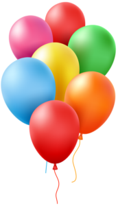 Happy Birthday balloons for Red Kite Radio